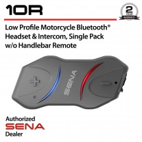 10R Low Profile Bluetooth Headset & Intercom w/o Handlebar Remote
