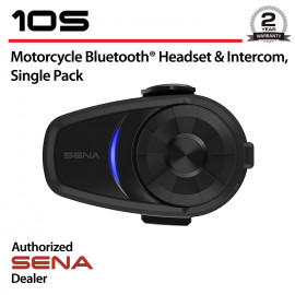 10S Bluetooth Headset & Intercom, Single Pack
