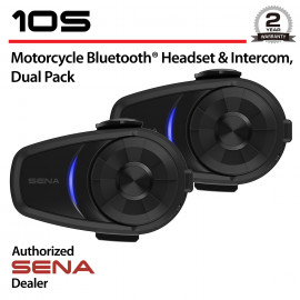 10S Bluetooth Headset & Intercom, Dual Pack