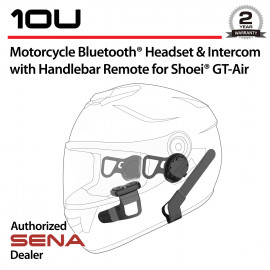10U Bluetooth Headset & Intercom with Remote Control for Shoei GT-Air