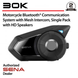 30K Motorcycle Bluetooth Headset with Mesh Intercom and HD Speakers, Single Pack