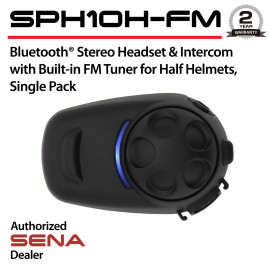 SPH10H-FM Headset & Intercom with Built-in FM Tuner for Half Helmets, Single Pack