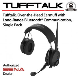 TuffTalk, Over-the-Head Earmuff with Long-Range Bluetooth Communication