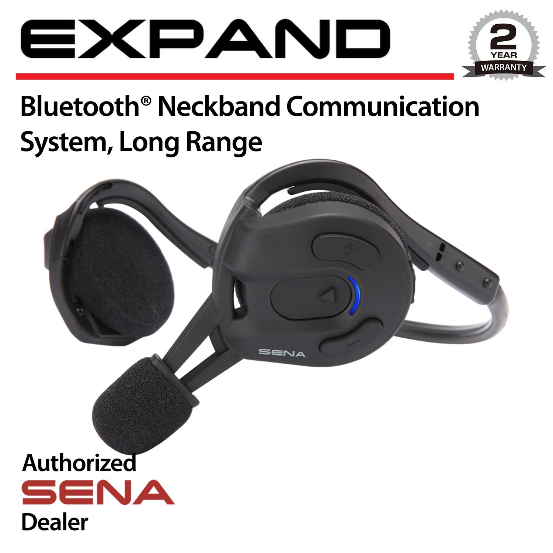 sena expand long range bluetooth neckband intercom headset outdoor expand 02 ebay. Black Bedroom Furniture Sets. Home Design Ideas