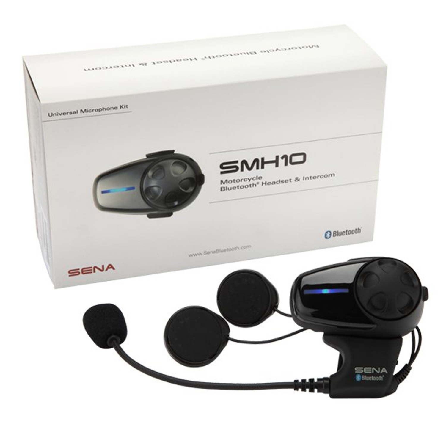 Bluetooth headphones with mic - Sena SMH10 - headset - with Universal Microphone Kit Overview