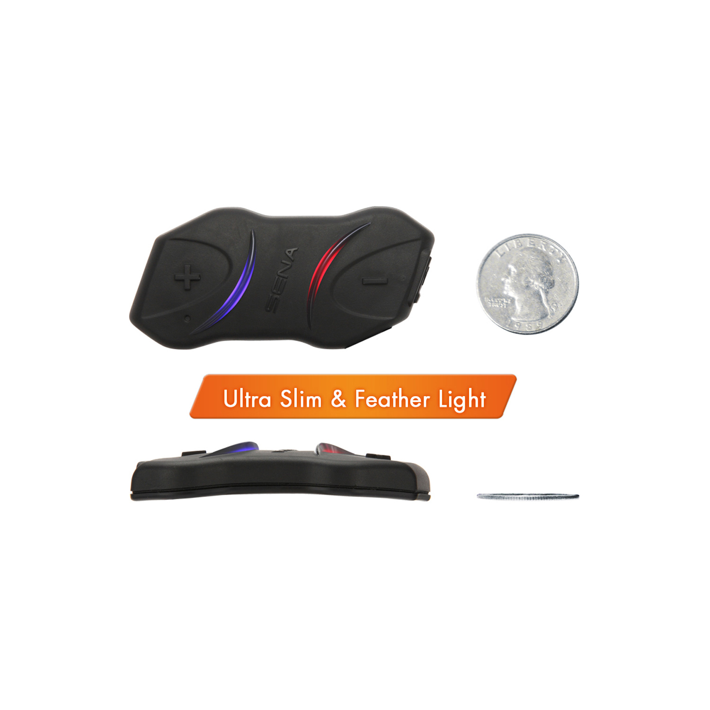 sena smh10r motorcycle helmet low profile bluetooth headset single kit smh10r 01 ebay. Black Bedroom Furniture Sets. Home Design Ideas