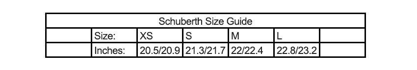 Schuberth_Size_Guide